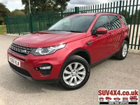 USED 2015 65 LAND ROVER DISCOVERY SPORT 2.0 TD4 SE TECH 5d AUTO 180 BHP 7 SEATER SATNAV LEATHER ONE OWNER FSH 7 SEATER. SATELLITE NAVIGATION. STUNNING RED MET WITH PART BLACK LEATHER TRIM. HEATED SEATS. CRUISE CONTROL. 18 INCH ALLOYS. COLOUR CODED TRIMS. PARKING SENSORS. ELECTRIC TAILGATE. BLUETOOTH PREP. CLIMATE CONTROL INCLUDING AIR CON. MULTIMEDIA SYSTEM. R/CD/DAB RADIO. AUTO GEARBOX. MFSW. MOT 08/20. ONE OWNER FROM NEW. SERVICE HISTORY. SUV & 4X4 CAR CENTRE LS23 7FR. TEL 01937 849492. OPTION 2