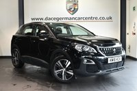 """USED 2018 18 PEUGEOT 3008 1.6 BLUEHDI S/S ACTIVE 5DR 120 BHP full service history * NO ADMIN FEES * FINISHED IN STUNNING BLACK WITH CLOTH UPHOLSTERY + FULL SERVICE HISTORY + BLUETOOTH + VIRTUAL COCKPIT + CRUISE CONTROL + USB PORT + CLIMATE CONTROL + TOUCH SCREEN + PARKING SENSORS + 18"""" ALLOY WHEELS"""
