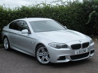 USED 2013 13 BMW 5 SERIES 2.0 520D M SPORT 4d AUTOMATIC  * FULL HEATED LEATHER INTERIOR * SATELLITE NAVIGATION *