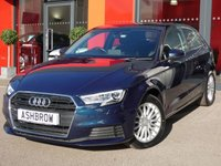 USED 2016 66 AUDI A3 1.6 TDI SE TECHNIK 3d 110 S/S NEW SHAPE, UPGRADE ELECTRIC FOLDING HEATED DOOR MIRRORS, SAT NAV, REAR ACOUSTIC PARKING SENSORS, AUDI SMART PHONE FOR APPLE CAR PLAY / ANDROID AUTO, CRUISE CONTROL, DAB DIGITAL RADIO, BLUETOOTH PHONE & MUSIC STREAMING, LIGHT & RAIN SENSORS, AUDI CONNECT, WIFI, LED XENON LIGHTS, AIR CONDITIONING, CD HIFI WITH 2x SD CARD READERS & SIM CARD READER, AUX & 2x USB INPUTS, 1 OWNER FROM NEW, FULL SERVICE HISTORY, £0 ROAD TAX, VAT QUALIFYING