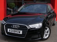 USED 2017 17 AUDI A3 SPORTBACK 1.0 TFSI SE 5d 115 S/S NEW SHAPE, FULL AUDI SERVICE HISTORY, 1 OWNER FROM NEW, BALANCE OF MANUFACTURERS WARRANTY, BI-XENON HEADLIGHTS WITH LED DAYTIME RUNNING LIGHTS & HEADLAMP WASHERS, CRUISE CONTROL, DAB RADIO, BLUETOOTH PHONE & AUDIO STREAMING, AUDI SMART PHONE INTERFACE FOR APPLE CAR PAY / ANDROID AUTO, USB PORTS x2, AUX INPUT, WIFI / WLAN PLAYER, SD CARD READER x2,  AIR CONDITIONING, LEATHER MULTI FUNCTION STEERING WHEEL, AUTO LIGHTS & WIPERS, DIS TRIP COMPUTER WITH DIGITAL SPEED DISPLAY, TYRE PRESSURE MONITORING