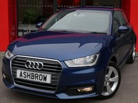 USED 2016 65 AUDI A1 1.0 TFSI SPORT 3d 95 S/S £1385 OF OPTIONAL EXTRAS, UPGRADE COMFORT PACK INCLUDING REAR PARKING SENSORS CRUISE CONTROL AUTO DIMMING REAR VIEW MIRROR AUTO LIGHTS & WIPERS WITH HIGH BEAM ASSIST & WINDSCREEN SUN BAND, DAB RADIO, BLUETOOTH PHONE & MUSIC STREAMING, AUDI DRIVE SELECT, AUDI MUSIC INTERFACE, SPORT SEATS, LEATHER MULTIFUNCTION STEERING WHEEL, AIR CONDITIONING, CD & SD CARD READER, TYRE PRESSURE MONITORING SYSTEM, FULL SERVICE HISTORY, £0 ROAD TAX (97 G/KM), VAT QUALIFYING