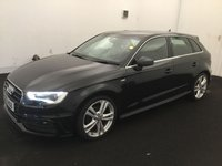 USED 2013 63 AUDI A3 2.0 TDI S LINE 5d AUTO 148 BHP BUY FOR 30 P/W WITH OUR FINANCE