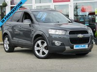 """USED 2012 61 CHEVROLET CAPTIVA 2.2 LTZ VCDI 5d 184 BHP Stunning, 2012 61 Plate, 7 Seater, 4x4, CHEVROLET CAPTIVIA 2.2 LTZ VCDI, 184 BHP. Finished in Met Grey with FULL HEATED LEATHER trim. Features include Sat Nav, Full Heated Leather, Parking Sensors, 19"""" Alloys, Cruise Control, Climate and much more. DEALER SERVICED AT 25097 miles, 30412 miles, 39949 miles, 49950 miles, 59366 miles, 71214 miles, 86078 miles and recently on 24/6/2019 at 103561 miles."""