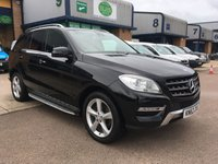 USED 2012 62 MERCEDES-BENZ M CLASS 2.1 ML250 BLUETEC SPECIAL EDITION 5d 204 BHP 88,000 MILES, A/C, BLUETOOTH, FINANCE ARRANGED & 6 MONTHS WARRANTY. Part Mercedes Service history - 5 services (3 Mercedes Main Agent) - last service 5.3.19 @ 81,433, Full black leather, 204 BHP,  Automatic & Tiptronic Transmission, Satellite Navigation System, Alloy Wheels, Rear Parking colour camera, Heated Front Seats, Electric Seats, 2 owners, CD Player, Bluetooth, Cruise Control, Electric Windows & Mirrors, Air Conditioning, 6 months premium Autoguard warranty as standard & finance arranged