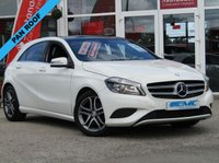 USED 2013 13 MERCEDES-BENZ A CLASS 1.6 A200 BLUEEFFICIENCY SPORT 5d AUTO 156 BHP STUNNING, 1 OWNER, MERCEDES A CLASS A200 BLUEEFFICIENCY SPORT (AUTO). 160BHP. Finished in CIRRUS WHITE with contrasting PART LEATHER trim. This A class certainly looks smart, with its slim lights and smooth body panels. There's plenty of room in the front and the back which will suit the average family. Features include Panoramic Roof, Part Leather, Sat Nav, Rear View Camera, Cruise and much more. Mercedes Dealer serviced.