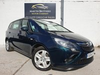 USED 2014 14 VAUXHALL ZAFIRA TOURER 1.8 EXCLUSIV 5d 138 BHP