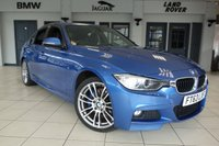 USED 2014 63 BMW 3 SERIES 2.0 320D XDRIVE M SPORT 4d AUTO 181 BHP FINISHED IN STUNNING BLUE WITH LEATHER UPHOLSTERY + SAT NAV + M SPORTS PACKAGE + HEATED SEATS + PARKING SENSORS + DUAL CLIMATE CONTROL + CRUISE CONTROL + XENON LIGHTS + DAB DIGITAL RADIO + BLUETOOTH + AIR CONDITIONING