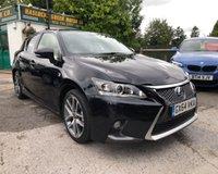 2014 LEXUS CT 1.8 200H F SPORT 5d AUTO 134 BHP £13499.00