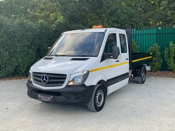 2018 MERCEDES-BENZ SPRINTER 2.1 314CDI 1d 140 BHP ULEZ DOUBLE CAB TIPPER 7 SEATER  £18999.00