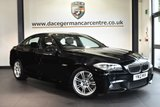 """USED 2012 12 BMW 5 SERIES 2.0 520D M SPORT 4DR 181 BHP excellent service history * NO ADMIN FEES * NO ADMIN FEES * FINISHED IN STUNNING BLACK WITH FULL LEATHER INTERIOR + EXCELLENT SERVICE HISTORY + PRO SATELLITE NAVIGATION + BLUETOOTH + HEATED SEATS + CRUISE CONTROL + VOICE CONTROL + PARKING SENSORS + 18"""" ALLOY WHEELS"""