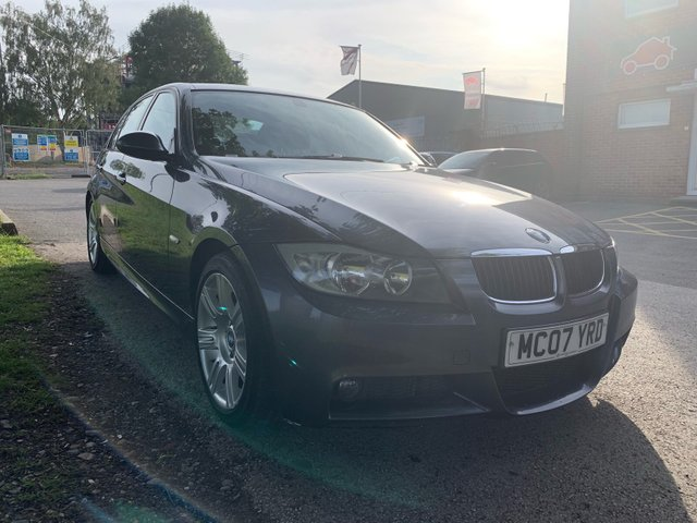 USED 2007 07 BMW 3 SERIES 2.0 320I M SPORT 4d 148 BHP STUNNING WELL MAINTAINED EXAMPLE WITH 5 SERVICE STAMPS TO 61K, ALLOY WHEELS, RADIO/CD, CLIMATE CONTROL, MULTI FUNCTION STEERING WHEEL
