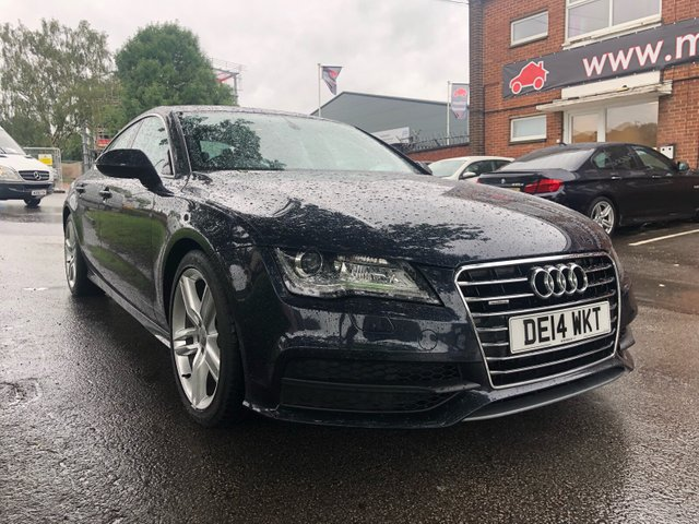 USED 2014 14 AUDI A7 3.0 TDI QUATTRO S LINE 5d AUTO 204 BHP STUNNING WELL MAINTAINED EXAMPLE WITH 4 SERVICE STAMPS TO 75K, ALLOY WHEELS, PARKING SENSORS, HEATED LEATHER SEATS, RADIO/CD/AUX/USB, CRUISE CONTROL, CLIMATE CONTROL, SAT NAV
