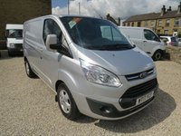2017 FORD TRANSIT CUSTOM 290 LIMITED 2.0TDCi 130PS EURO 6 LONDON FRIENDLY L1 H1 VAN £12995.00