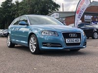 USED 2010 60 AUDI A3 1.2 TFSI SPORT 3d 105 BHP 2 PREVIOUS KEEPER *  * FULL SERVICE RECORD (8 STAMPS) *  CLIMATE CONTROL *  ALLOY WHEELS *  2 KEYS *