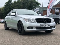 USED 2008 08 MERCEDES-BENZ C CLASS 1.8 C180 KOMPRESSOR SE 4d AUTO 155 BHP PRIVACY GLASS +   18 INCH ALLOYS +  FULL SERVICE RECORD ( 9 STAMPS )+  MOT MAY 2020 *  CLIMATE CONTROL *