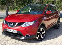 """USED 2015 15 NISSAN QASHQAI 1.5 DCI N-TEC PLUS 5d 108 BHP / SAT NAV/ PANORAMIC ROOF ABSOLUTELY FULLY LOADED NISSAN QASHQAI N-TEC+ WITH SAT NAV/ PANORAMIC ROOF/ HEATED SEATS/ PARKING SENSORS/ LEATHER SEATS/ BLUETOOTH/ 1 OWNER/ COMES WITH FULL SERVICE HISTORY/ +NEW SERVICE @91K MILEAGE/ MOT - 13/07/2020/  ROAD TAX £20,- ANNUAL/ 2 KEYS/ WARRANTY/ HPI CLEARED/  BOOK A TEST DRIVE TODAY!  APPLY FOR A CAR FINANCE ON OUR WEBSITE PAGE """"FINANCE""""."""