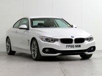 USED 2016 66 BMW 4 SERIES 2.0 420D SPORT 2d AUTO 188 BHP [METALLIC WHITE] METALLIC-WHITE NAV XENONS LTHR
