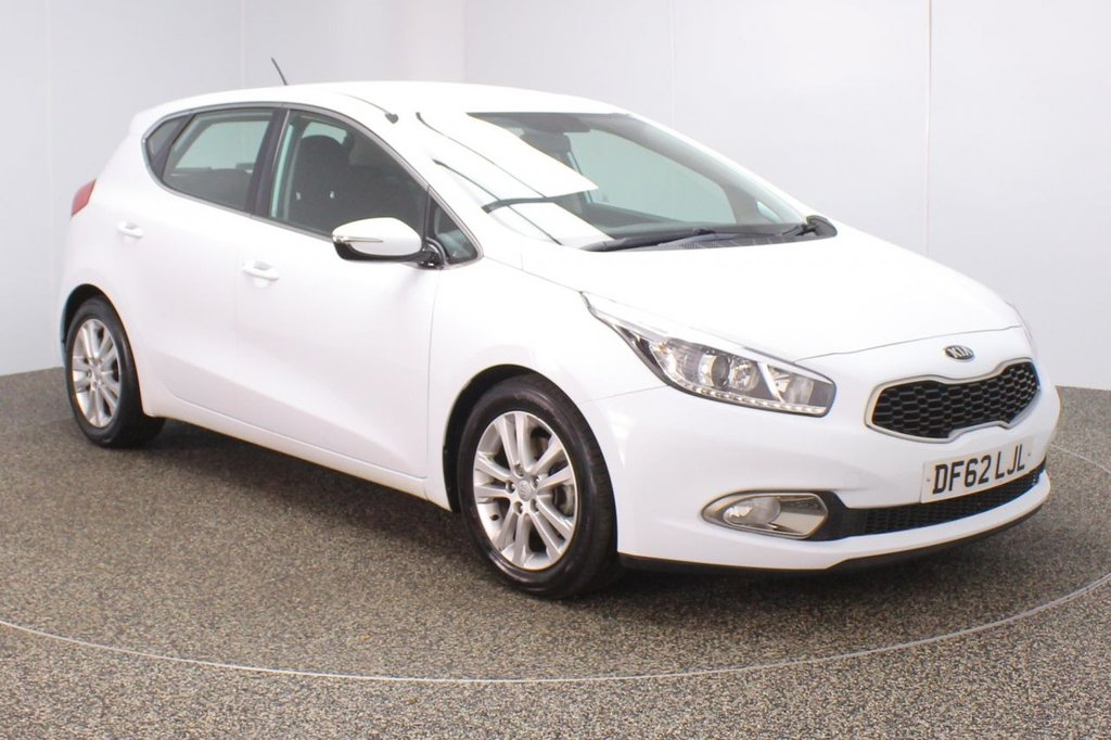 USED 2013 13 KIA CEED 1.6 2 ECODYNAMICS 5DR 1 OWNER 133 BHP FULL SERVICE HISTORY + PARKING SENSOR + BLUETOOTH + CRUISE CONTROL + MULTI FUNCTION WHEEL + AIR CONDITIONING + RADIO/CD/AUX/USB + XENON HEADLIGHTS + ELECTRIC WINDOWS + ELECTRIC MIRRORS + 16 INCH ALLOY WHEELS