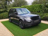 USED 2018 67 LAND ROVER RANGE ROVER 3.0 TDV6 VOGUE 5d AUTO 255 BHP Storm Grey Metallic with Black Full Leather Heated Electric Memory Seats, Panoramic Glass Sunroof + Power Blind, 22 Inch Duotone Style 7 Alloy Wheels Finished Black & Grey, HDD Satellite Navigation + Meridian Premium Sound + Digital TV + Bluetooth Connectivity + DAB Radio, Remote Power Tailgate, Lane Departure Warning System,  Front and Rear Park Distance Control + Front and Rear Camera's, Factory Fitted Side Steps, Heated Leather Multi Function Steering Wheel, ACC Adaptive Cruise Control