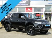 USED 2010 10 MITSUBISHI L200 2.5 DI-D 4X4 WARRIOR LB DCB 1d 175 BHP STUNNING, NO VAT, MITSUBISHI L200 2.5 DI-D WARRIOR 4WD DCB AUTO, 175 BHP. Finished in ARCTIC WHITE with ciontrasting Ebony Black Heated LEATHER. This has got to be a favourite of any double cab pick up on the market today. Features include Sat Nav, Leather, B-Tooth, Rear View Camera, Rear Load Cover and Bars and much more.