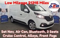 2016 RENAULT TRAFIC 1.6 SL27 SPORT NAV DCI  120 BHP . Low Mileage, 21351 Miles, SAT NAV, Air Con, 3 Seats, Cruise, Bluetooth, Alloys, Ply lined .....  £11480.00