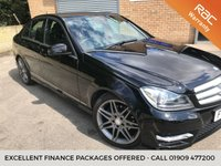 USED 2013 63 MERCEDES-BENZ C CLASS 1.6 C180 BLUEEFFICIENCY AMG SPORT PLUS 4d AUTO 155 BHP RED SEAT BLETS, HALF BLACK LEATHER MERC SERVICE HISTORY
