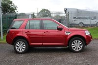 USED 2014 14 LAND ROVER FREELANDER 2.2 SD4 HSE 5d AUTO 190 BHP STUNNING FIRENZY RED METALLIC PAINT, LUXURY BEIGE SAND LEATHER INTERIOR, 18 INCH ALLOY INCLUDING SPARE WHEELS, PANORAMIC ROOF, SAT NAV, HEATED SEATS, TOP SPEC, LOW MILEAGE, SERVICE HISTORY