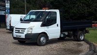 USED 2012 12 FORD TRANSIT TIPPER 2.2 350 DRW 99 BHP 6 speed manual, single cab, 135,000 miles, comes fully serviced along with fresh 12 month MOT, plus 6 months warranty. Finance and delivery available