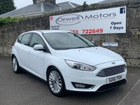 USED 2016 16 FORD FOCUS 1.5 TITANIUM X TDCI 5d AUTO 118 BHP FINANCE AVAILABLE+HEATED FRONT SEATS+REVERSING CAMERA+1 OWNER+FULL SERVICE HISTORY+HALF LEATHER INTERIOR