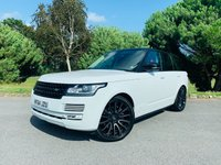 USED 2014 64 LAND ROVER RANGE ROVER 4.4 SDV8 AUTOBIOGRAPHY 5d AUTO 339 BHP STUNNING AUTOBIOGRAPHY IN WHITE WITH RED LEATHER PAN ROOF ONE LOCAL OWNER FSH