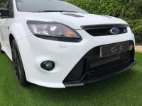 USED 2010 60 FORD FOCUS 2.5 RS 3d 300 BHP Black Leather / Alcantara Recaro Bucket Seats with Contrast Blue Stitch, 19 Inch Gloss Black Alloy Wheels, Satellite Navigation + Bluetooth Connectivity, Park Distance Control + Reverse Camera, Automatic Headlights + Power Wash, Leather Multi Function Steering Wheel, Heated Electric Powerfold Mirrors, Privacy Glass.  For added Security this Ultimate Hot Hatch has been Fitted with a Clifford Black Jacks 5 Security System.