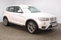 USED 2015 65 BMW X3 2.0 XDRIVE20D XLINE 5DR SAT NAV HEATED LEATHER 188 BHP FULL SERVICE HISTORY + HEATED LEATHER SEATS + SATELLITE NAVIGATION + PARKING SENSOR + BLUETOOTH + CRUISE CONTROL + CLIMATE CONTROL + MULTI FUNCTION WHEEL + DAB RADIO + ELECTRIC WINDOWS + RADIO/CD/AUX/USB + ELECTRIC MIRRORS + 18 INCH ALLOY WHEELS