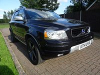USED 2014 14 VOLVO XC90 2.4 D5 R-DESIGN NAV AWD 5d AUTO 1 PRE OWNER, FULL SERVICE HISTORY
