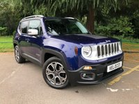 USED 2016 16 JEEP RENEGADE 1.4L LIMITED 5d AUTO 138 BHP ASCARI DESIGN LIMITED EDITION