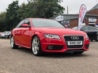 USED 2010 10 AUDI A4 2.0 TDI S LINE 4d AUTO 141 BHP HALF LEATHER +   PRIVACY GLASS *  PARKING AID +   19 INCH ALLOYS *  1 PREVIOUS KEEPER *  MOT MAY 2020 *