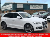 USED 2016 16 AUDI Q5 3.0 SQ5 TDI QUATTRO 5d AUTO 322 BHP IBIS WHITE with BLACK LEATHER STUNNING SQ5 WITH 322 BHP ONLY 51722 MILES FSH PADDLE SHIFT
