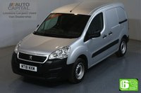 USED 2018 18 PEUGEOT PARTNER 1.6 BLUE HDI 100 BHP SWB EURO 6 ENGINE ONE OWNER, LOW MILEAGE
