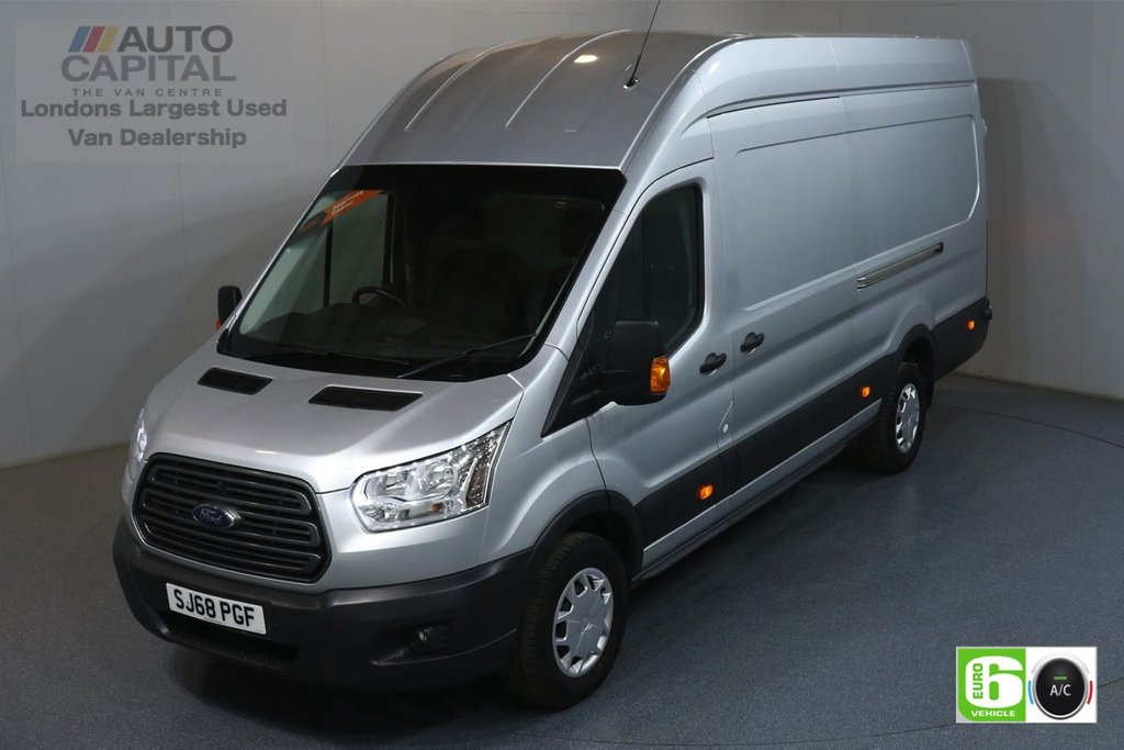 USED 2018 68 FORD TRANSIT 2.0 350 TREND L4 H3 JUMBO 129 BHP RWD EURO 6 ENGINE AIR CON, FRONT-REAR PARKING SENSORS