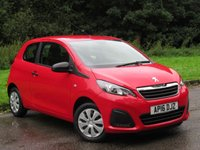 USED 2016 16 PEUGEOT 108 1.0 ACCESS 3d 68 BHP FABULOUS LOW MILEAGE STARTER CAR