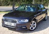 "USED 2013 K AUDI A4 2.0 TDI SE TECHNIK 4d AUTOMATIC 141 BHP/ SAT NAV/ FULL MAIN DEALER SERVICE HISTORY/ MINT CONDITION & FULLY LOADED AUTDI A4 2.0 TDI SE TECHNIK AUTOMATIC 141 BHP/ COMES WITH SAT NAV/ CRUISE CONTROL/ PARKING SENSORS/ LEATHER HEATED SEATS/ CRUISE CONTROL/ LOW MILEAGE/ WITH FULL MAIN DEALER SERVICE HISTORY/ +NEW SERVICE @59K MILEAGE/ 1 YEAR NEW MOT/ ROAD TAX £125,- ANNUAL/ 2 KEYS/ WARRANTY/ HPI CLEARED/  BOOK A TEST DRIVE TODAY! APPLY FOR A CAR FINANCE ON OUR WEBSITE PAGE ""FINANCE""."