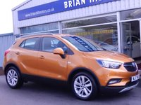 USED 2017 17 VAUXHALL MOKKA X 1.4 16V TURBO ACTIVE  5dr (140bhp) .........ONE  OWNER. FULL VAUXHALL SERVICE HISTORY.  CLIMATE CONTROL, 18 INCH ALLOY WHEELS. CRUISE CONTROL, ROOF RAILS. LIKE NEW.