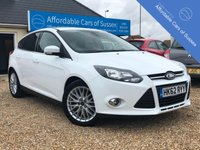 USED 2013 62 FORD FOCUS 1.0 ZETEC 5d 125 BHP Low Mileage 1.0 125BHP Engine in Bright Frozen White