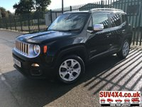 USED 2016 66 JEEP RENEGADE 1.6 M-JET LIMITED 5d 118 BHP SATNAV LEATHER ONE OWNER FSH SATELLITE NAVIGATION. STOP/START. STUNNING BLACK MET WITH BLACK LEATHER TRIM. HEATED SEATS. HEATED STEERING. LANE ASSIST. CRUISE CONTROL. 18 INCH ALLOYS. COLOUR CODED TRIMS. PRIVACY GLASS. PARKING SENSORS. BLUETOOTH PREP. CLIMATE CONTROL. MEDIA CONNECTIVITY. DIGITAL DAB RADIO WITH AUX. 6 SPEED MANUAL. MFSW. ONE OWNER FROM NEW. SERVICE HISTORY. PRESTIGE SUV CENTRE LS23 7FR. TEL 01937 849492 OPTION 1