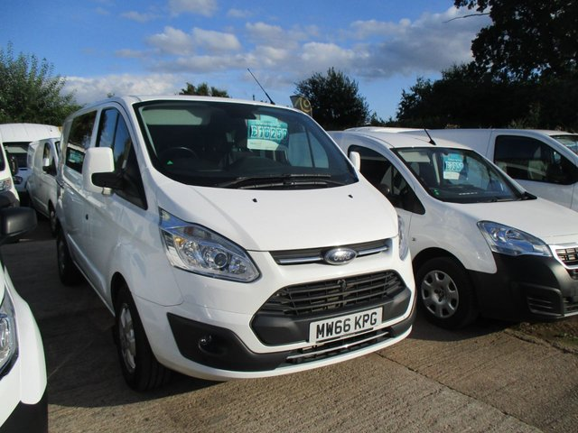 2016 66 FORD TRANSIT CUSTOM 270 LR DCB 2.0 Tdci turbo diesel 290 LIMITED LR Factory Double Cab 130 BHP