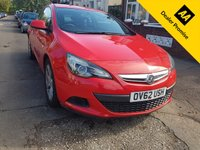 USED 2012 62 VAUXHALL ASTRA 1.4 GTC SPORT S/S 3d 138 BHP HPI CLEAR + FULL HISTORY + 6 MONTH WARRANTY + P/X WELCOME