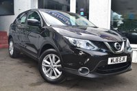 USED 2016 16 NISSAN QASHQAI 1.5 DCI ACENTA SMART VISION 5d 108 BHP STUNNING NISSAN QASHQAI IN PEARL BLACK
