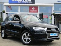 USED 2015 15 AUDI Q3 2.0 TDI SE 5d 148 BHP STUNNING, 1 OWNER, AUDI Q3 2.0 TDI SE 148 BHP. Finished in MYTHOS BLACK with contrasting grey CLOTH trim. This handsome looking SUV is a great all rounder. It's one the most popular its class. Features include, £30 Road Tax, DAB Radio, B/Tooth, Park Sensors, Upgraded Alloys and much more. Teeside AUDI DEALER serviced at 19501 miles, 39212 miles and at 58443 miles.