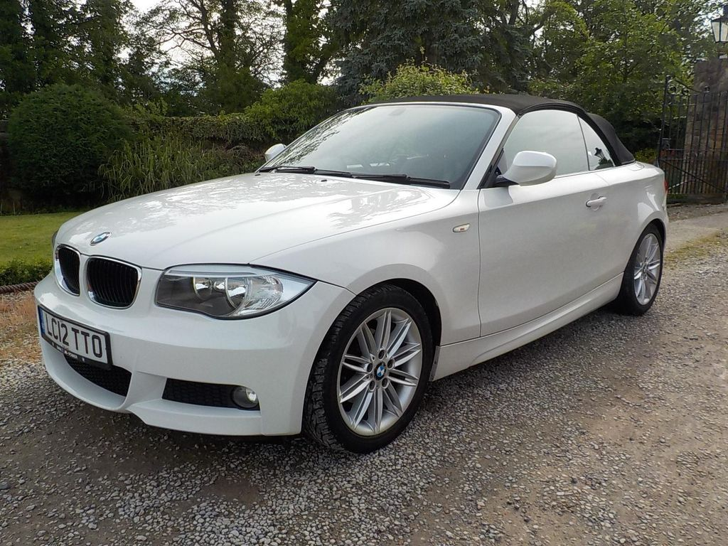 USED 2012 12 BMW 1 SERIES 2.0 118d M Sport 2dr Electric roof, half leather