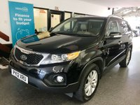 USED 2012 12 KIA SORENTO 2.2 CRDI KX-3 5d 195 BHP Three owners- last lady since 2017, full service history- seven stamps, supplied with 12 months Mot. Huge specification, Seven seats. Finished in Metallic Ebony Black with Beige leather.